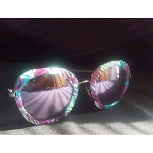 DvF Addeline Purple Palm Sunglasses